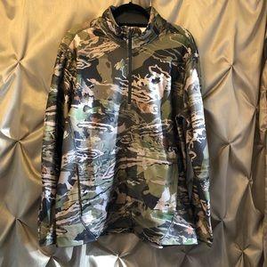 Under Armour Forest Camo Quarter Zip Fleece XL NWT